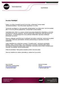 OKM:n Valintakoeuudistus 2017 - Saatekirje Poliitikoille - Kansikuva